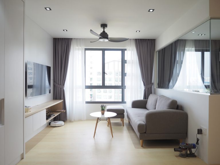 Singapore scandi living room