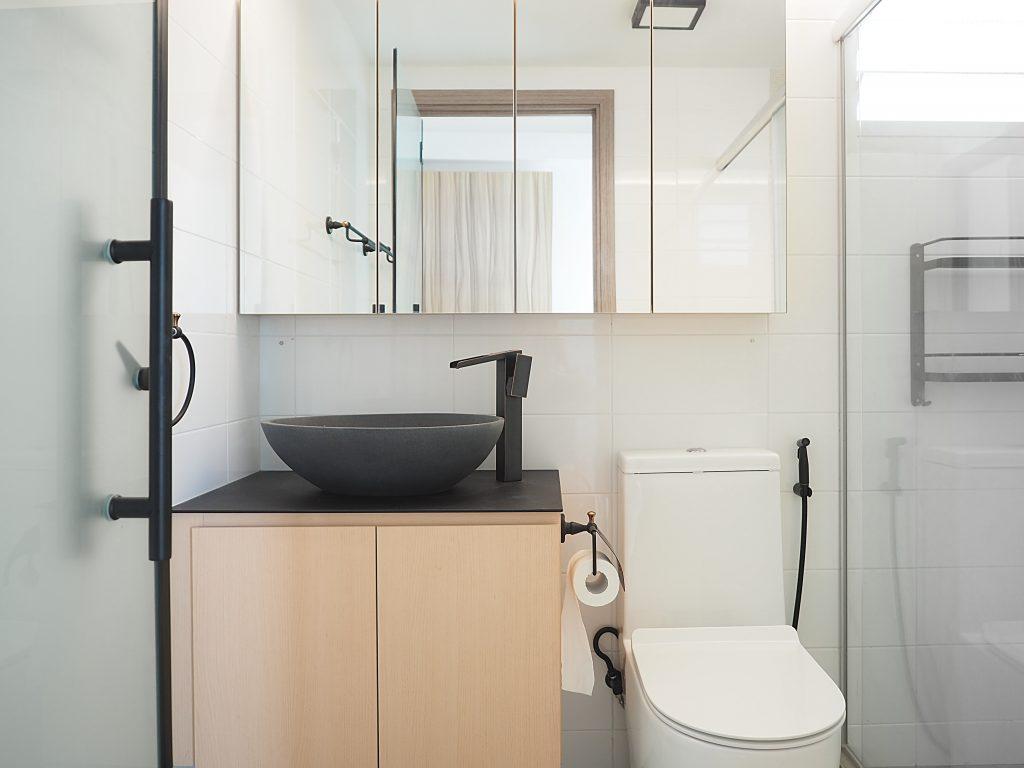 Singapore minimalist bathroom toilet