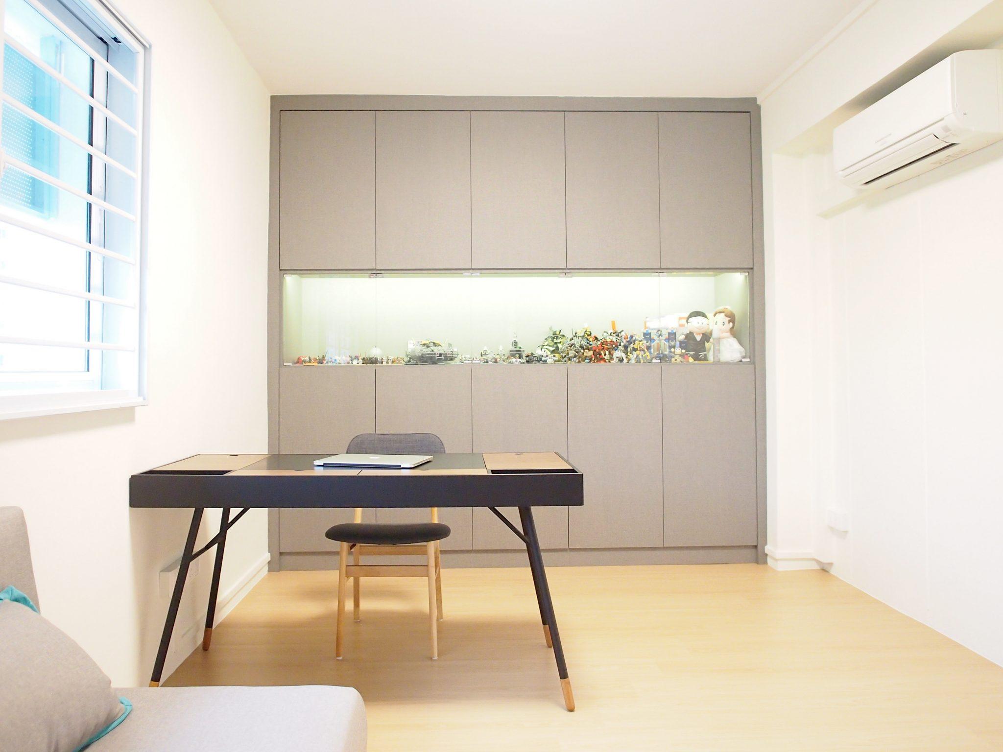 Singapore minimalist study room