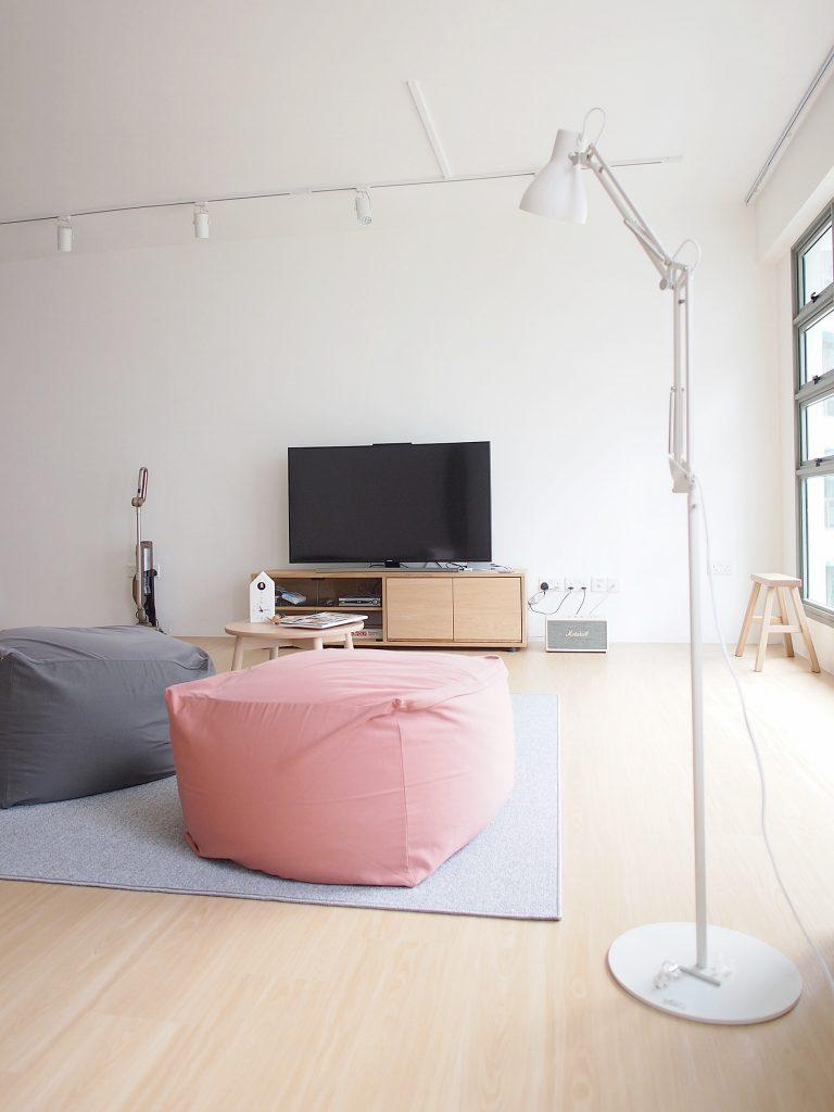 muji style living room renovation idea malaysia