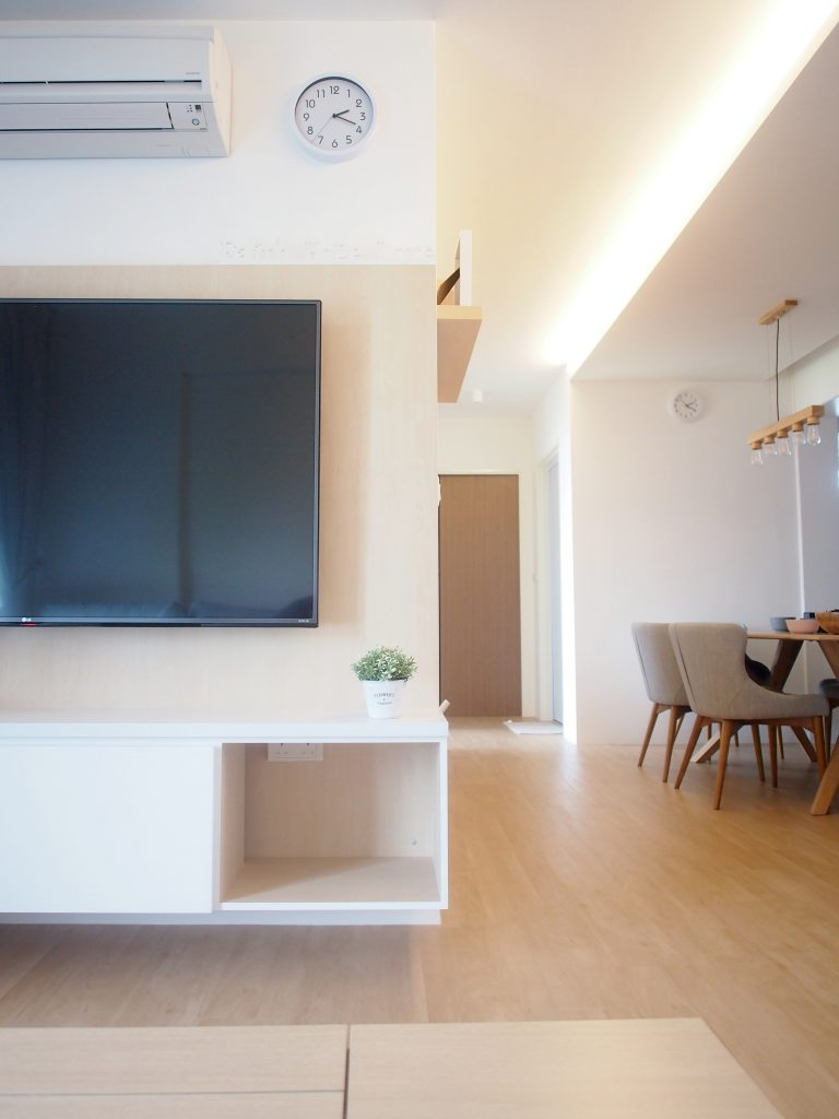 Singapore minimalist living room