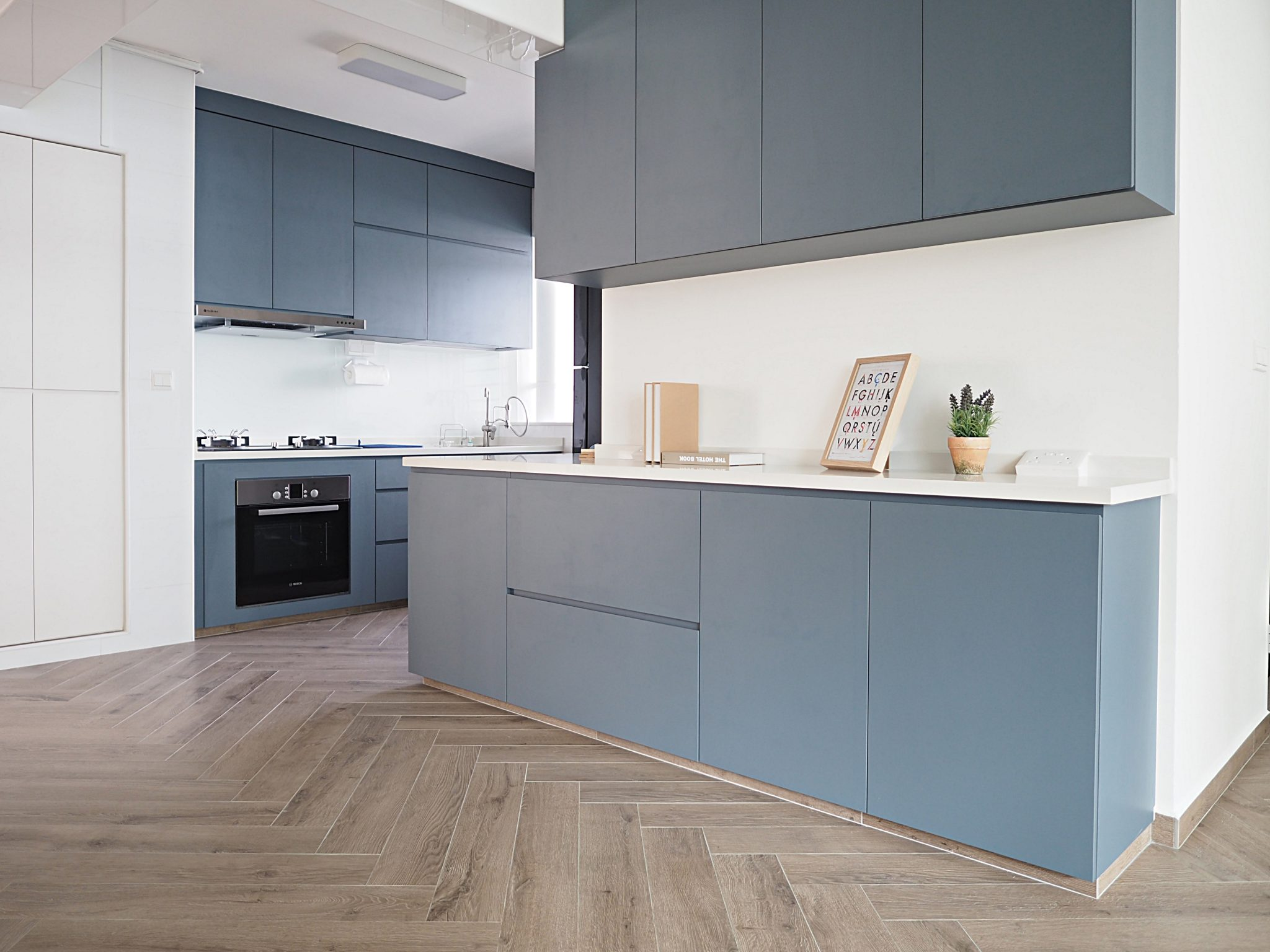 bto blue kitchen