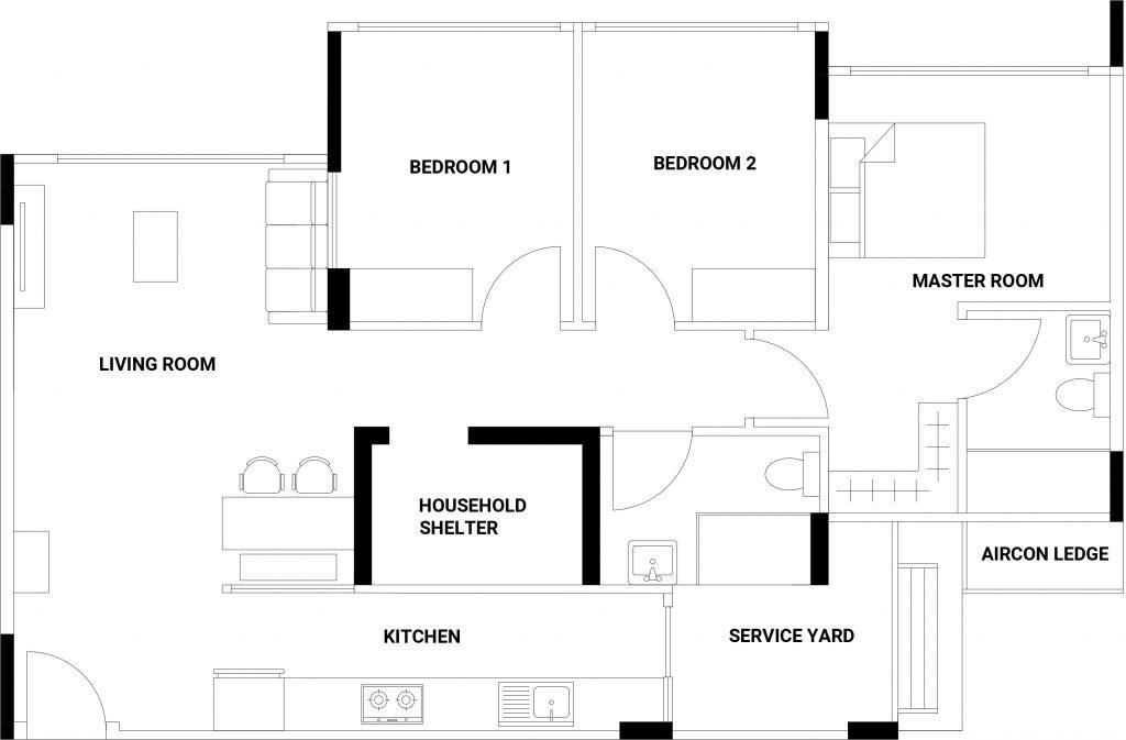 punggol residences floorplan