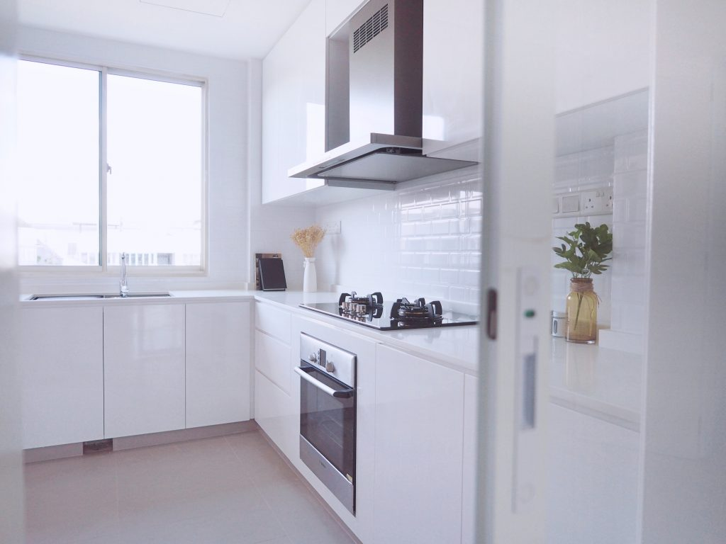 modern white kitchen singapore