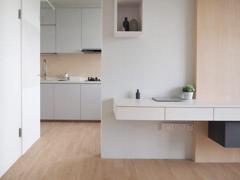 grey kitchen style hdb bto